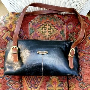 Barberini's Italian Leather Shoulder Bag